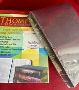 Thompson Chain Reference Bible Kjv Burgundy Bonded Leather Handy Size 539