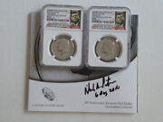 2014 Kennedy P D Signed Us Mint Director Richard Peterson Ngc D Sp68 P Sp67 Ana