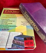 Thompson Chain Reference Bible Kjv Royal Purple Bonded Leather 509-s