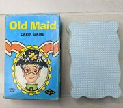 Vtg Old Maid Card Game Shaped Cards Built Rite Toys Complete
