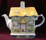 """James Sadler England Collectible Teapot English Country Cottages """"rose Cottage"""""""