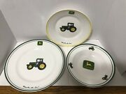 Gibson John Deere Lot Of 3 Dishes. Plates And Bowl