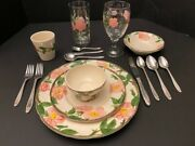 Franciscan Desert Rose Complete Place Setting W/flatware And Drinkware