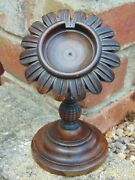 Quality Antique 19th C Victorian Turned Wood Pocket Watch Stand Holder