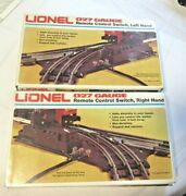 Lionel 027 Gauge Remote Control Switches Leftandright 6-5121and6-5122 Original Boxes