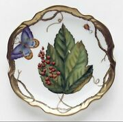 New Anna Weatherley Wildberry Red Bread And Butter Plate Handmade 6 1/4
