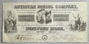1850 American Mining Company Windsor Vermont Norwich Mine Note