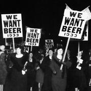 1933 We Want Beer Poster Womens Anti Prohibition 18th Amendment Protest Parade