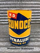 1950andrsquos Sunoco Dynalube Motor Oil Can 1 Qt. - Gas And Oil