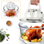 12l Turbo Air Fryer Electric Convection Oven Roaster +cooker Recipe 360anddeg Heating
