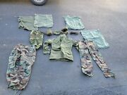 Vintage Lot 1970s Us Army Military Issue Clothing Pants Jacket Goggles Canteen