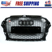 Rs3 Style For 2013-2016 Audi A3 S3 8v Front Henycomb Bumper Grille Grill Gloss