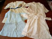Antique-vtg 30s Girls Dress And Silk Jacket Coat Mixed Childrens Clothing Lot 4 Pc
