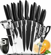 Stainless Steel Kitchen Knives Set With Acrylic Stand Free Shipping Usa