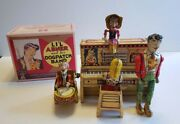 Unique Art Dog Patch Band Lil' Abner Tin Wind Up Toy 1945 Works Like Marx