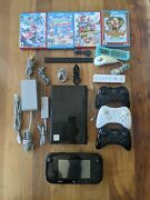Wiiu Bundle, 4 Premium Games, 4+1 Controllers, Complete Tested And Factory Reset
