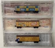 Z Scale Mixed Refrigerator Freight Car Lot With Mtl Knuckle Couplers. Z Scale.