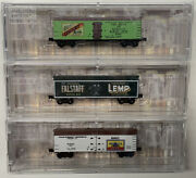 Z Scale Beer Refrigerator Freight Car Lot With Mtl Knuckle Couplers. Lot 2