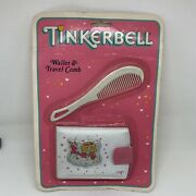 Vintage Nos Tinkerbell Tom Fields Wallet And Travel Comb Set White Pink