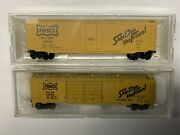 N Scale Frisco Freight Car Lot With Mtl Knuckle Couplers. Lot 1