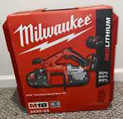 Milwaukee 2629-22 M18 18-volt Lithium-ion Cordless Band Saw Kit 2 Battery New
