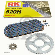 Chain Set Yamaha Wr 250 For 10-15 Chain Rk Rc 520 H 114 Open Blue 14/47