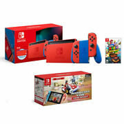 Nintendo Switch Mario Red And Blue Edition + Super Mario 3d World + Bowserand039s Fury