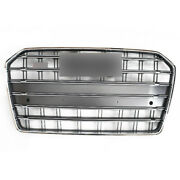 Fit For Audi A6 C7pa 2016-2018 Grille Update S6 Style Chrome Front Mesh Grill