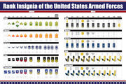 Us Military Ranks Poster, United States Enlisted And Officer Insignia Poster