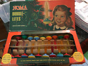 Vintage Box Of Noma 20 Biscuit Bubble Lights.c-6 Original, All Working,1947,1948