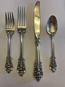 Wallace Sterling Silver Grand Baroque 4 Pc Place Setting