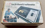 Vintage Sears Black Solid State Electronic Tach Dwell Voltmeter 161.216500 W/box