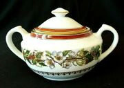 Spode Christmas Rose Red Band Fine Bone China With Lid England