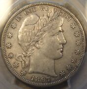 1897-s Barber Half Dollar 50c Pcgs Certified Xf45 There Is A Small Planchet Flaw