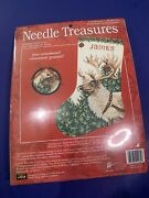 Needle Treasures Dasher Stocking Counted Cross Stitch Kit 02982 James Reindeer