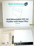 New Open Box Germaway Uv By Care Uv Wall Mountable Uvc Air Purifier Hepa Filter