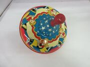Vintage Ohio Art Spinning Top Metal Childrens Toy Airplanes  523-d
