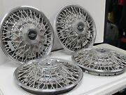 Set Of 4 Wire Wheel Cover Hub Cap Buick Riviera