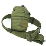Genuine Tactical Military 1qt Metal Canteen Alice Clips Side Pouch Belt [30]