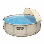Bestway 13 Foot X 42 Inches Power Steel Frame Pool Set With Canopy For Parts