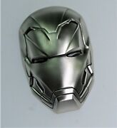 Amazing 2021 2 Oz .999 Silver Iron Man Mask Marvel 3d Coin W/ Coa And Ogp