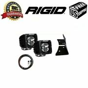Rigid For Jeep Jk 2007-2015 Radiance Pod White And A-pillar Mount Kit And Harness