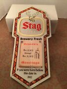 Vintage Stag Beer Born Before 1962 Calendar Sign Nos New Old Stock 1983