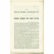 Zachary Taylor / True Whig Sentiment General Taylorand039s Two Alison Sic Allison 1st