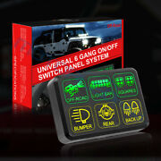 6 Gang Switch Panel Circuit Control Box Breaker For Led Work Light Bar Pods Us