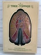 1979 Hallmark Stained Glass Acrylic Colors Of Christmas Angel Tree Topper In Box