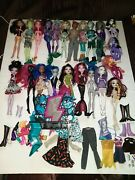 Monster High Dolls Huge 22 Lot Some Rare Mattel With Accessories