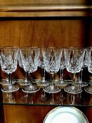 12 Waterford Crystal Water Goblets Lismore Tall 8ozold Mark Irelandmint