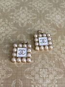 2 Vintage Pearl Zipper Pull Button Authentic 20mm