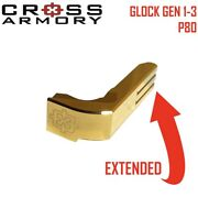 For Glock Extended Magazine Catch Gen 1-3 Gold By Cross Armory.